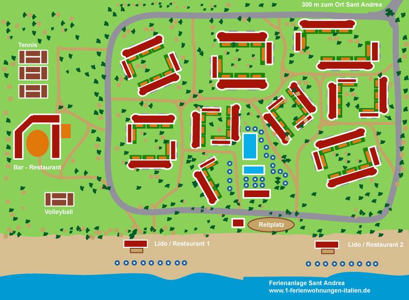 Plan Ferienanlage Ferienwohnung Italien